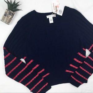 Planet Gold NWT Stripe Chunky Rib Knit Sweater